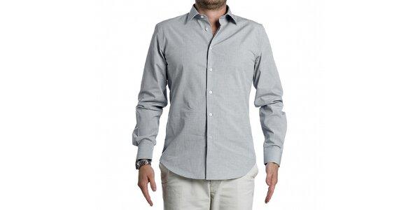 Pánska svetlo šedá košela Calvin Klein