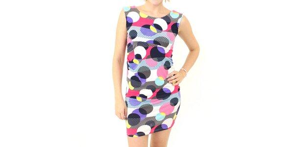 Dámske farebné šaty s koliečkami Smashed Lemon