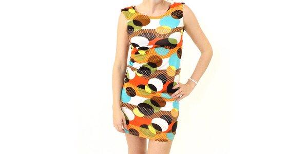 Dámske hnedo-oranžové šaty s koliečkami Smashed Lemon