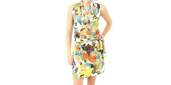 Dámske farebné vzorované šaty Smashed Lemon