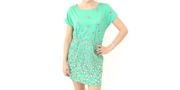 Dámske mätové zelené šaty s mašličkami Smashed Lemon