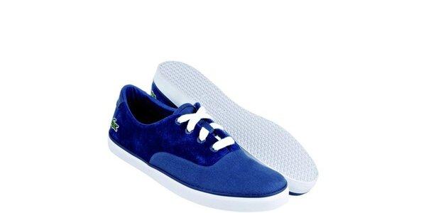 Dámske modré semišové tenisky Lacoste