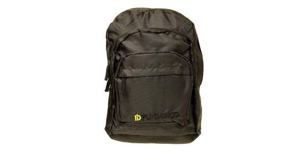 Pánsky čierny batoh s logom Fundango