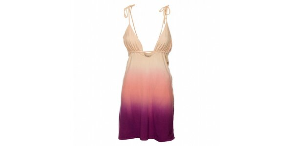 Dámske ružovo-fialové šaty Fundango s farebnými prechodmi