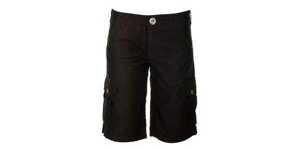 Dámske čierne šortky s vreckami Fundango