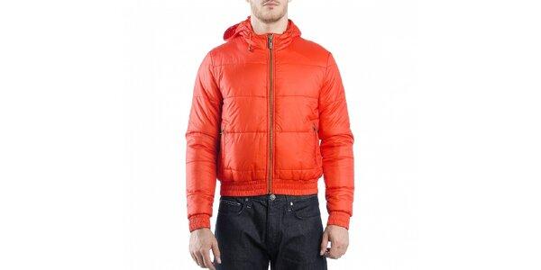 Pánska červená prešívaná bunda Calvin Klein