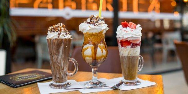 3 druhy sladkých káv či káva s rumom