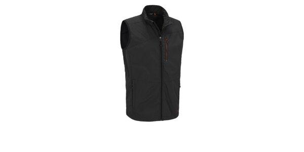 Pánska čierna softshellová vesta Maier s membránou