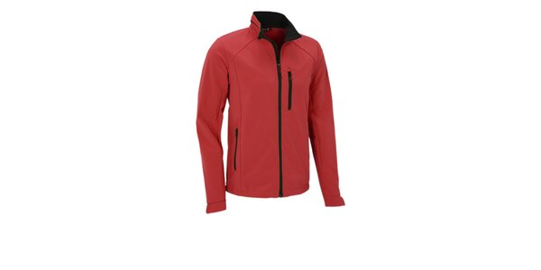 Pánska červená softshellová bunda Maier s membránou