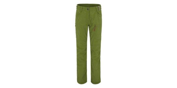 Dámske zelené outdoorové funkčné nohavice Maier