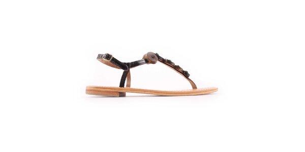 Dámske čierno-hnedé sandálky Les Tropeziennes