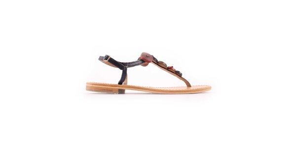 Dámske modro-červené sandálky Les Tropeziennes