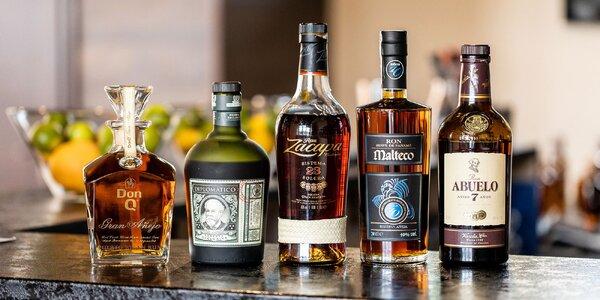 Degustácia 5 vyberaných druhov rumu či whisky