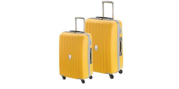 Set dvoch žltých kufrov na koliečkach Valisa