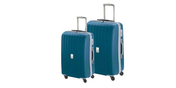 Set dvoch modrých kufrov na koliečkach Valisa