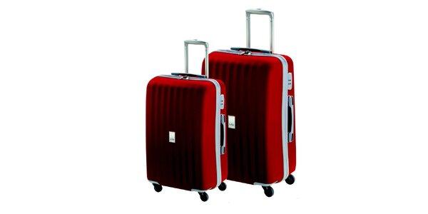 Set dvoch červených kufrov na koliečkach Valisa