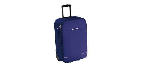 Tmavo modrý kufor na koliečkach Valisa