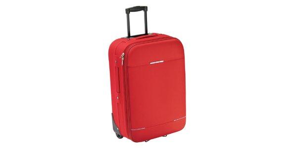 Červený kufor na koliečkach Valisa