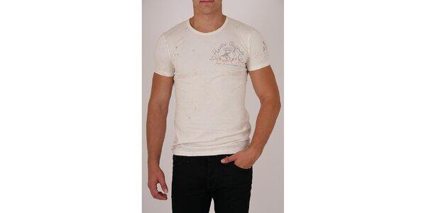 Pánske krémové tričko Pepe Jeans