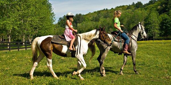 Zajazdite si na koňoch v krásnej prírode Kysúc