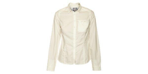 Dámska biela košeľa s dlhým rukávom Pepe Jeans