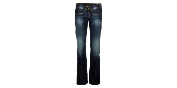Dámske modré džínsy so šisovaním Pepe Jeans