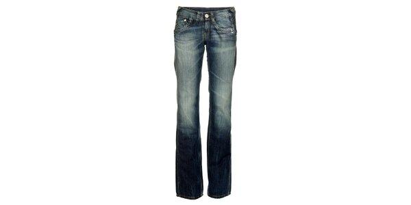 Dámske modré šisované džínsy Pepe Jeans