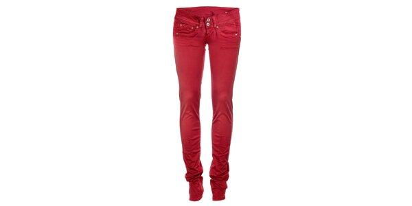 Dámske červené skinny džínsy Pepe Jeans