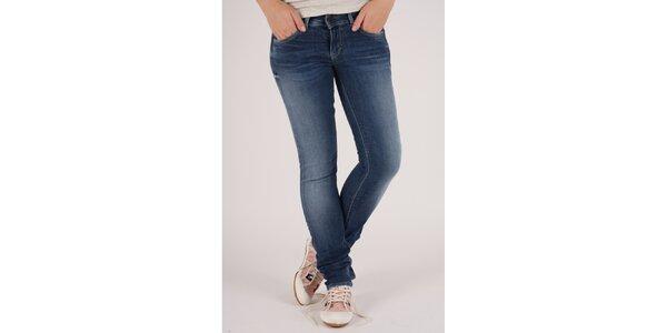 Dámske modré elastické džínsy Pepe Jeans