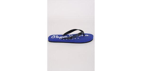 Pánske čierno-modré žabky Pepe Jeans
