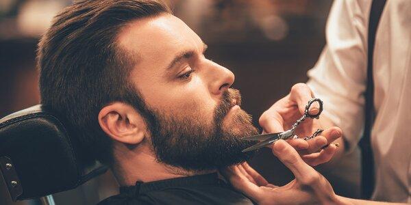 Pánsky strih vlasov s možnosťou úpravy brady a stylingom v Sparkle barber salóne