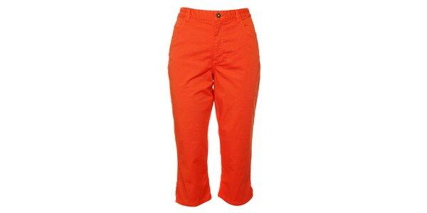Dámske oranžové capri nohavice TBS