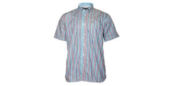 Pánska modro-červená prúžkovaná košeľa TBS