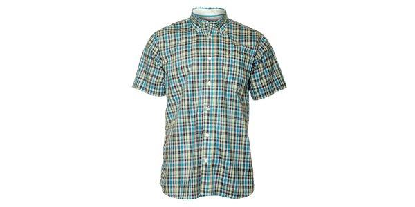 Pánska modrá kockovaná košeľa TBS