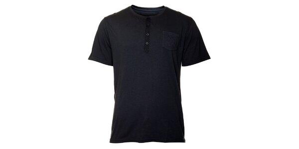 Pánske modro čierne tričko TBS