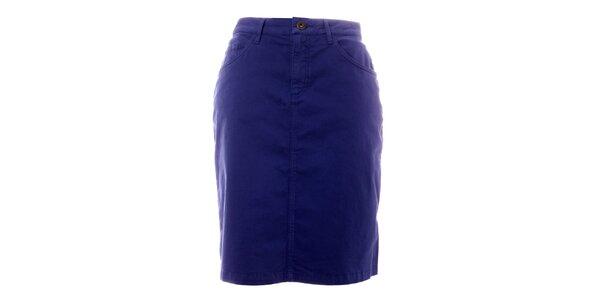 Dámska modrá sukňa s vreckami TBS