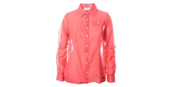 Dámska jahodová ľahká košeľa TBS