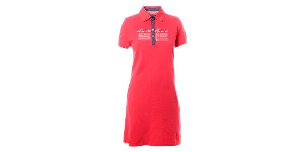 Dámske malinovo červené košeľové šaty TBS