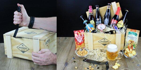 Darčekové debny s výberovým alkoholom a dobrotami