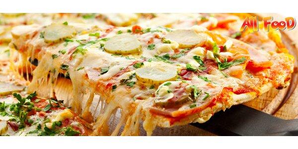 2 x chrumkavá pizza ALL FOOD aj s donáškou