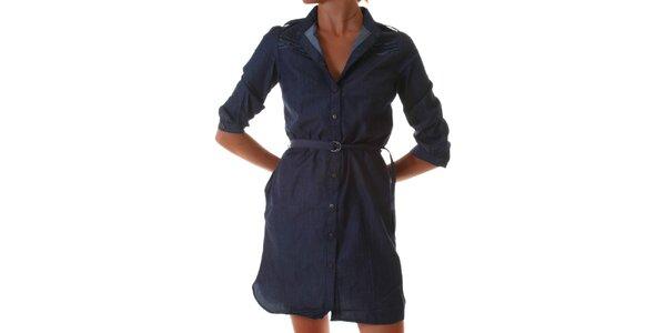 Dámske modré denimové šaty Diesel