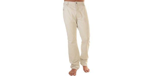 Pánske béžové džínsy s prímesou ľanu Diesel