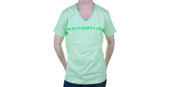 Pánske zelené tričko s nápisom Diesel