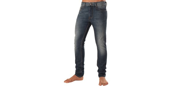 Pánske modré džínsy s šisováním Diesel