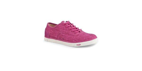Dámske ružové plátené tenisky Ugg