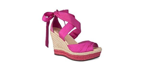 Dámske sorbetovo ružové zaväzovacie sandálky Ugg