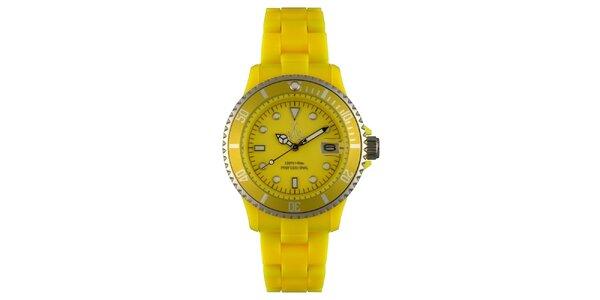 Žlté športové hodinky Toy s plastovým remienkom