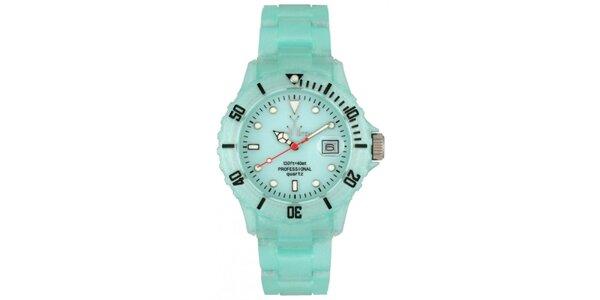 Svetlo modré plastové hodinky Toy s perleťovým povrchom