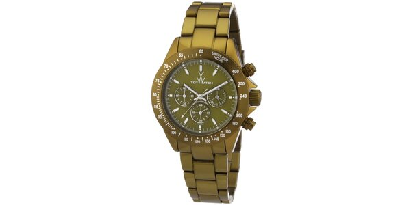 Pánske zelené analógové hodinky Toy