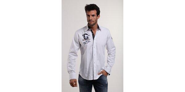Pánska biela bavlnená košeľa Giorgio di Mare